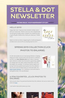 Stella & Dot Newsletter