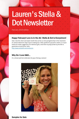 Lauren's Stella & Dot Newsletter