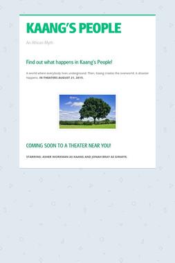 KAANG'S PEOPLE