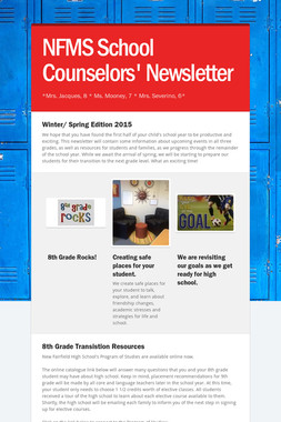 NFMS School Counselors' Newsletter