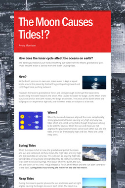 The Moon Causes Tides!?