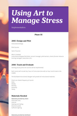 Using Art to Manage Stress