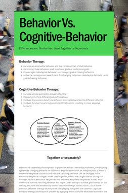 Behavior Vs. Cognitive-Behavior