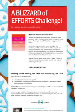 A BLIZZARD of EFFORTS Challenge!