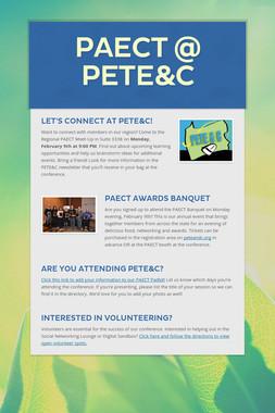PAECT @ PETE&C