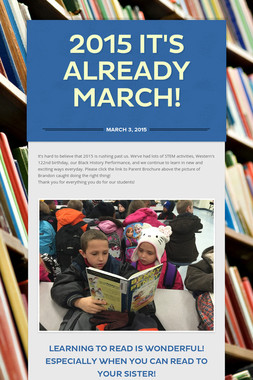 2015 It's already March!