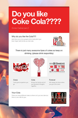 Do you like Coke Cola????