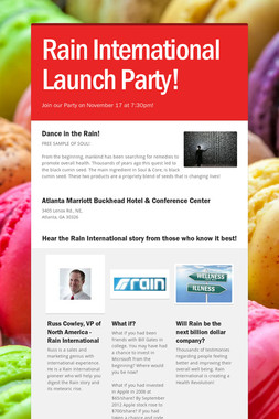 Rain International Launch Party!