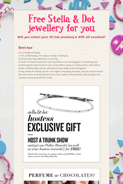 Free Stella & Dot jewellery for you