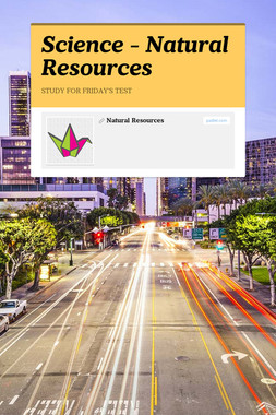 Science - Natural Resources