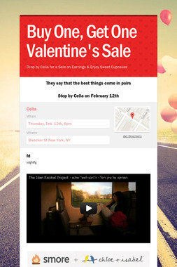 Buy One, Get One Valentine's Sale