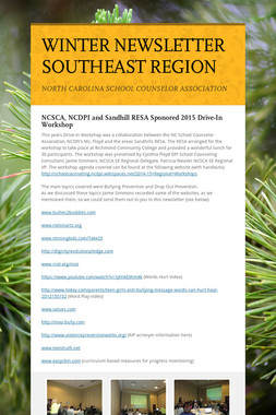 WINTER NEWSLETTER SOUTHEAST REGION