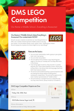 DMS LEGO Competition