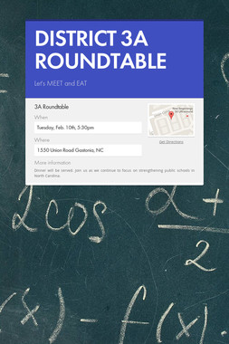 DISTRICT 3A ROUNDTABLE