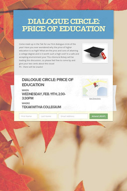 Dialogue Circle: Price of Education