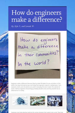 How do engineers make a difference?