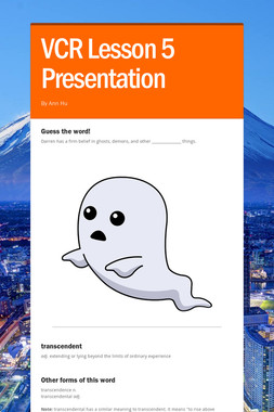VCR Lesson 5 Presentation