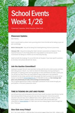 School Events Week 1/26