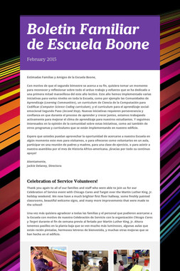 Boletin Familiar de Escuela Boone