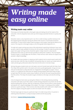Writing made easy online