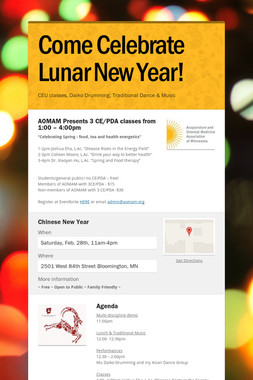 Come Celebrate Lunar New Year!
