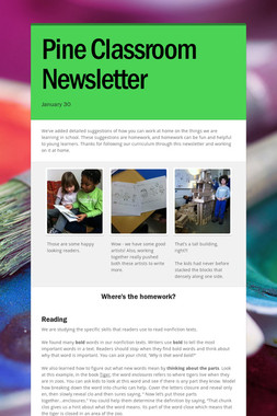 Pine Classroom Newsletter