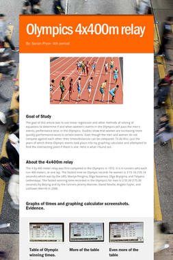 Olympics 4x400m relay