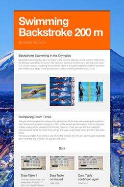 Swimming Backstroke 200 m