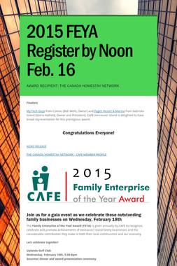 2015 FEYA Register by Noon Feb. 16
