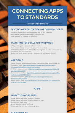 Connecting Apps to Standards