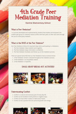 4th Grade Peer Mediation Training