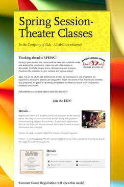 Spring Session- Theater Classes
