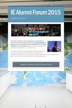 IE Alumni Forum 2015