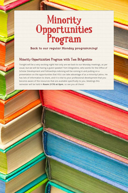 Minority Opportunities Program
