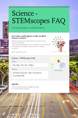 Science - STEMscopes FAQ