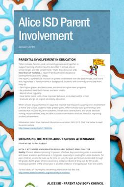 Alice ISD Parent Involvement