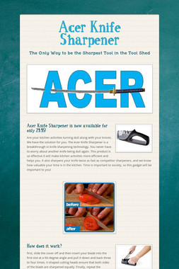 Acer Knife Sharpener