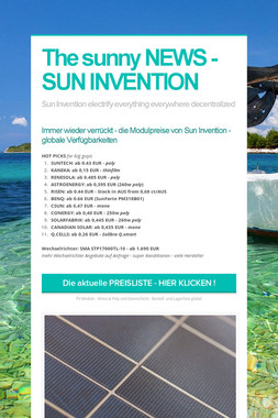 The sunny NEWS - SUN INVENTION