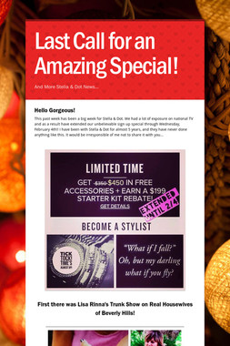 Last Call for an Amazing Special!