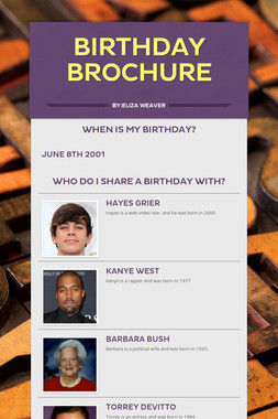 Birthday brochure