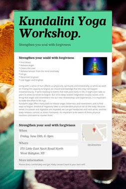 Kundalini Yoga Workshop.