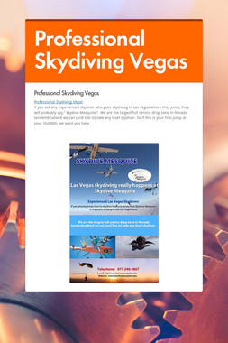 Professional Skydiving Vegas