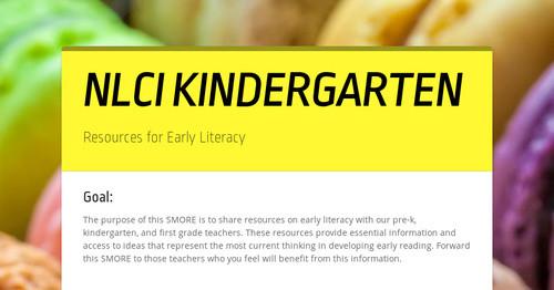 NLCI KINDERGARTEN | Smore Newsletters for Education