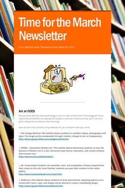 Time for the March Newsletter