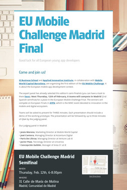 EU Mobile Challenge Madrid Final