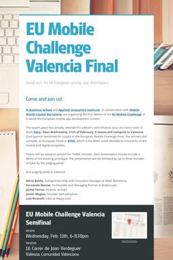 EU Mobile Challenge Valencia Final