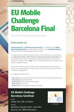 EU Mobile Challenge Barcelona Final