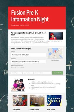 Fusion Pre-K Information Night
