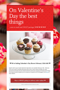 On Valentine's Day the best things