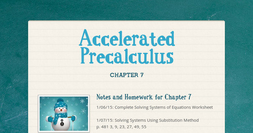 Accelerated Precalculus | Smore Newsletters for Education